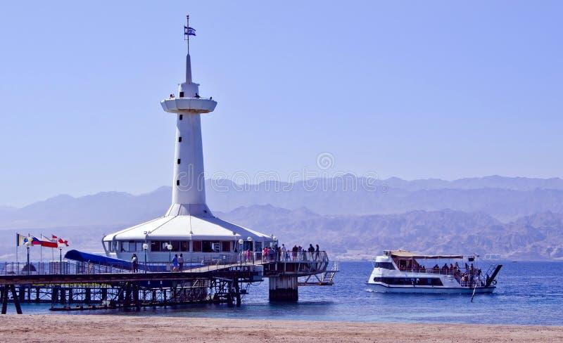 Observatoire sous-marin marin, Eilat, Israël photo stock