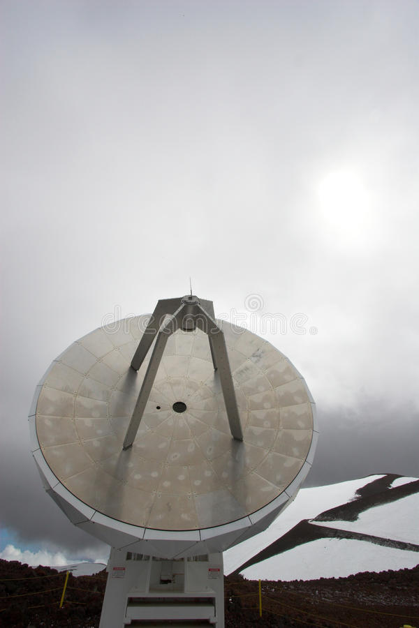 Observatoires et neige photos libres de droits