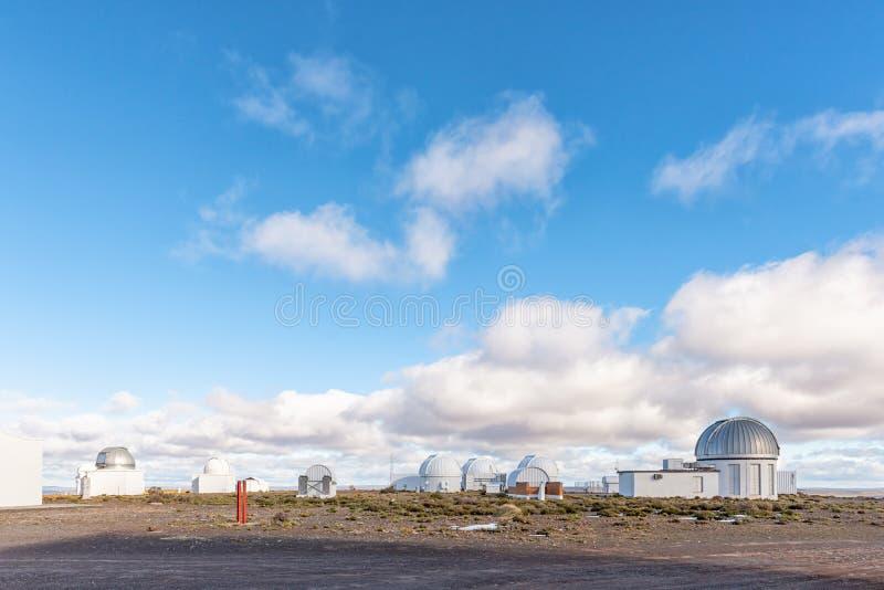 Observatorier på söderna - afrikansk astronomisk observatorium arkivbild