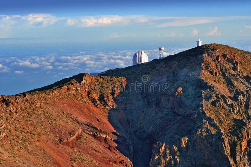 Observatories over sky stock photos