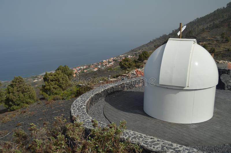 Observatorio astrológico encima del La Palma In The Canary Islands de San Antonio Volcano On The Island Of Viaje, naturaleza, foto de archivo