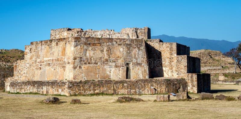 Observatorio astronómico, ruinas de Monte Alban - Oaxaca, México foto de archivo