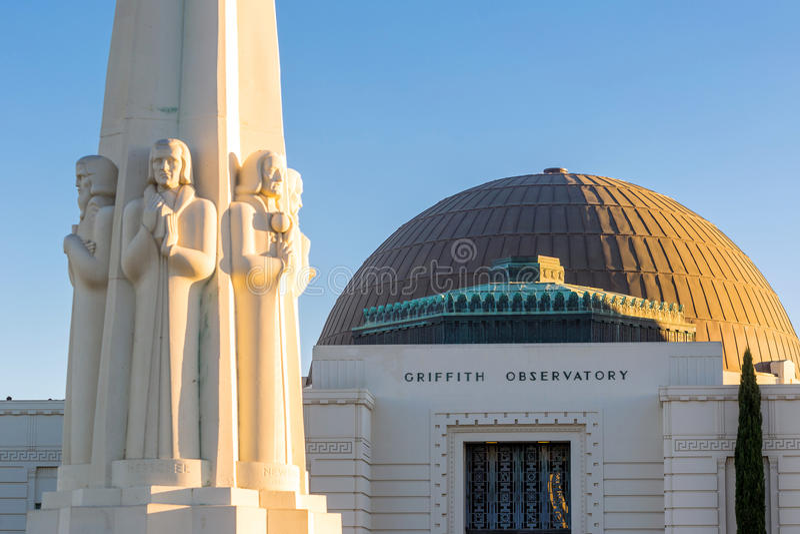 Observatorio de Griffith en Los Ángeles foto de archivo libre de regalías