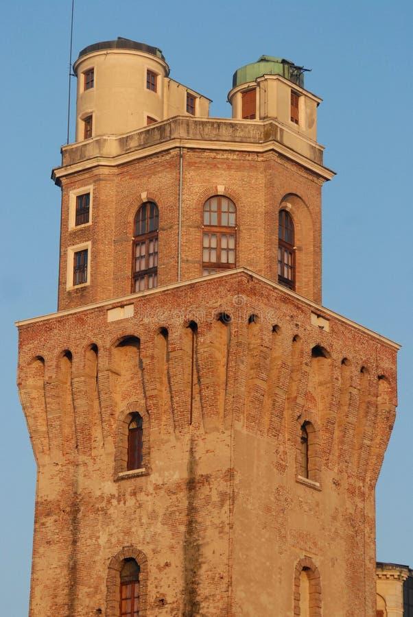 Observatorio de la torre o la torre del diablo ahora un museo de la astronomía de Padua en Véneto (Italia) fotos de archivo libres de regalías
