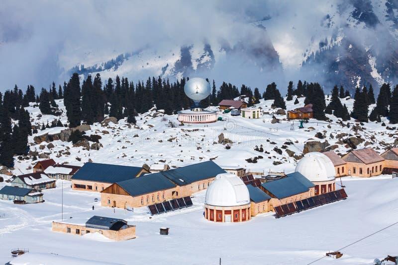 Observatorio de Tien Shan imagen de archivo libre de regalías