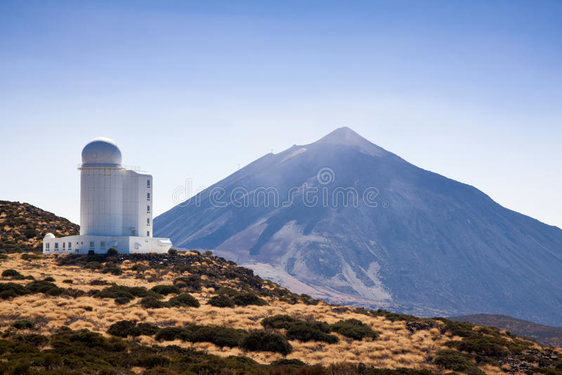 Observatorio del Teide (observatorio de Teide) imagenes de archivo