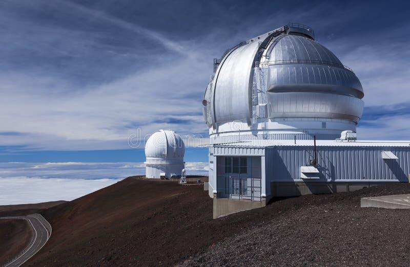 Observatorios en Mauna Kea, hola foto de archivo libre de regalías