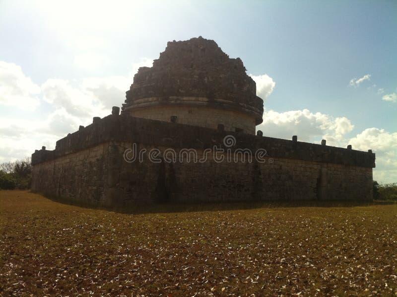 Observatorium старого Майя Chichen Itza (2) стоковое изображение rf