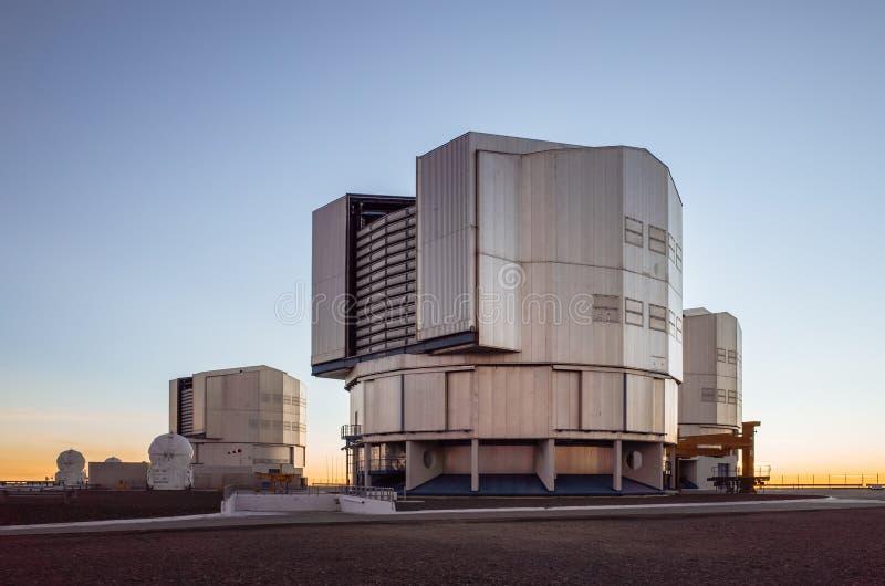Observatorium för ESO Paranol arkivfoto