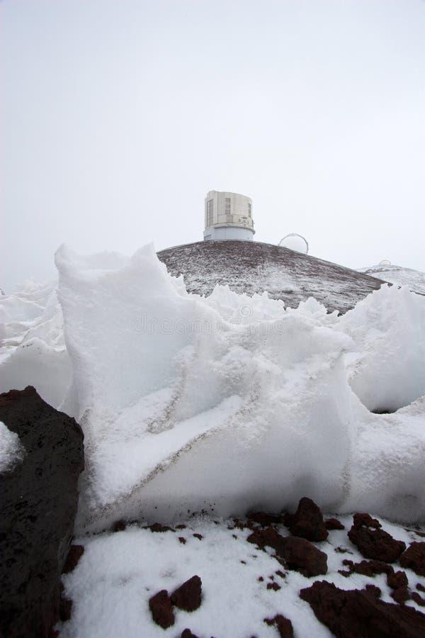 observatoriumsnow royaltyfri bild