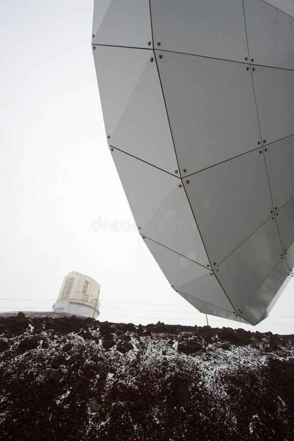 observatoriumsnow arkivbild