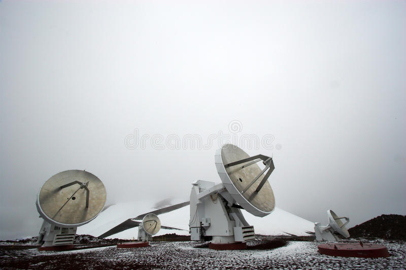 observatoriumsnow royaltyfri foto