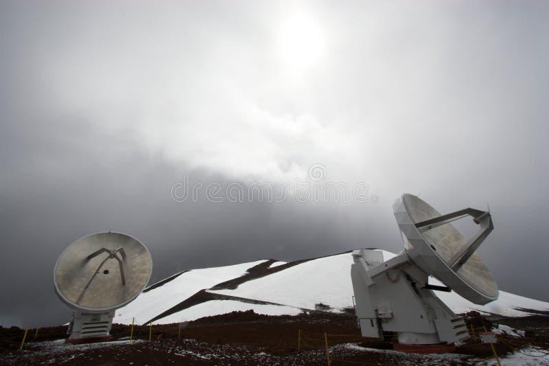 observatoriumsnow fotografering för bildbyråer