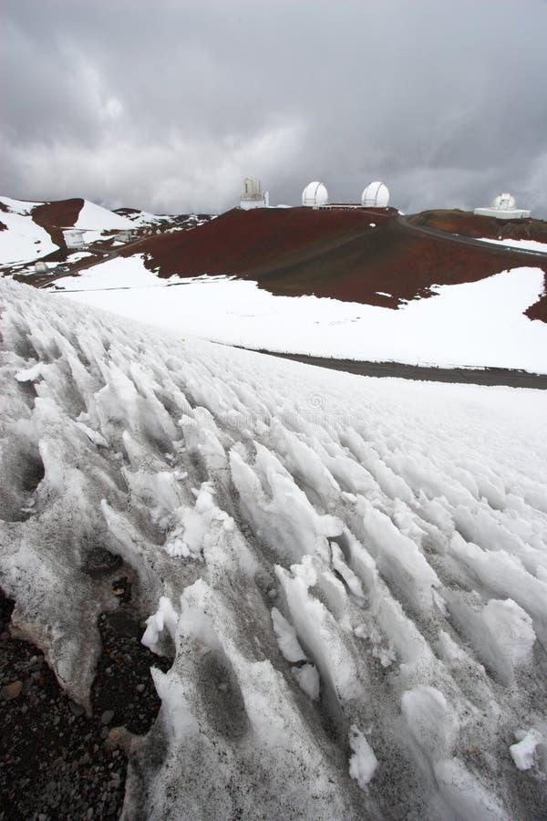 observatoriumsnow arkivfoton