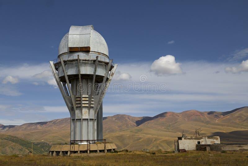 Observatory in Assy Plateau, Almaty, Kazakhstan stock image