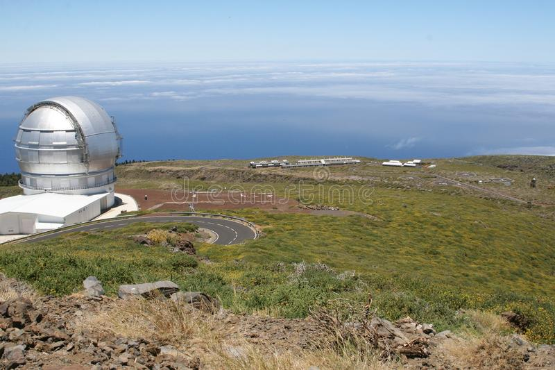 Observatory for the cosmos at La Palma, Spain stock image