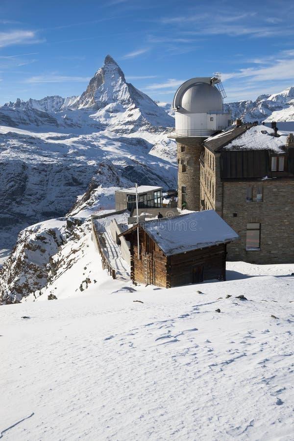 Observatory on the Gornergrat royalty free stock photo