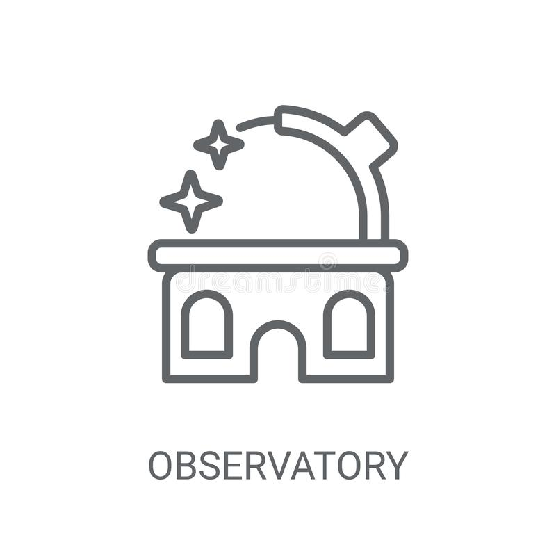 Observatory icon. Trendy Observatory logo concept on white backg. Round from Science collection. Suitable for use on web apps, mobile apps and print media stock illustration