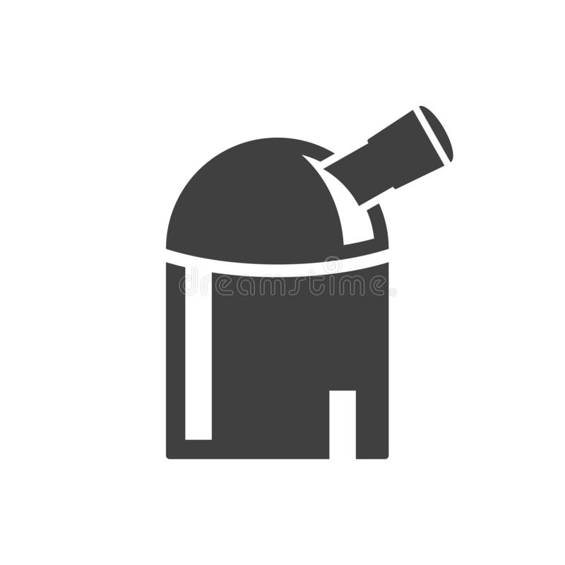 Observatory Icon. Vector on a white background. Observatory Icon. Vector on a white background royalty free illustration