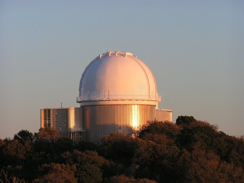 Observatory at Kitt's Peak, AZ. MINOLTA DIGITAL CAMERA royalty free stock photo