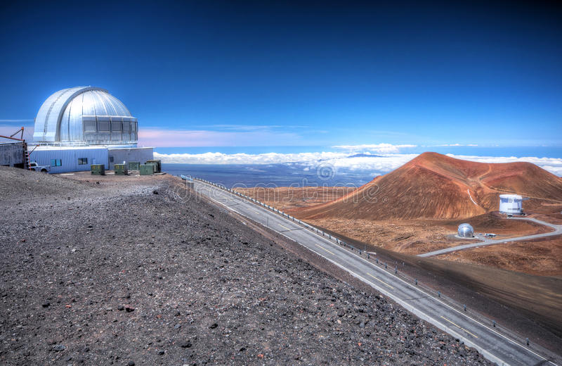 Observatory on Mauna Kea stock image