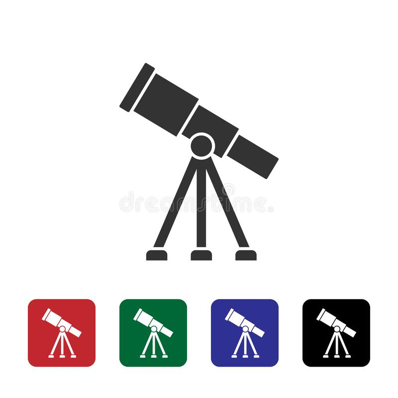 Observatory, telescope  icon. Simple element illustration from biotechnology concept. Observatory, telescope  icon. Bioengineering  Illustration. on white royalty free illustration