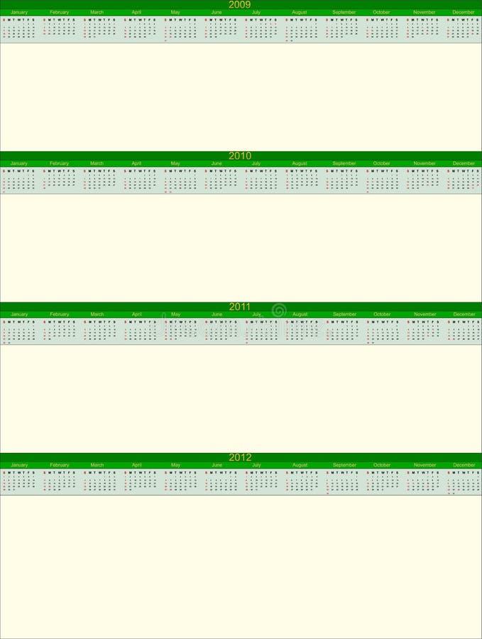 Observe Calendar09-12 ilustración del vector
