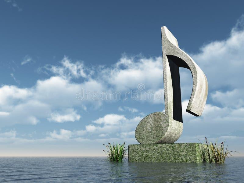 Observe el monumento stock de ilustración