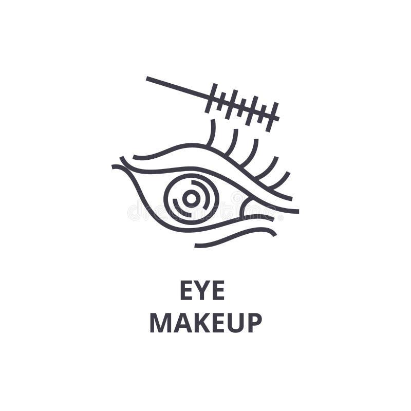 Observe la línea fina icono, muestra, símbolo, illustation, concepto linear, vector del maquillaje ilustración del vector