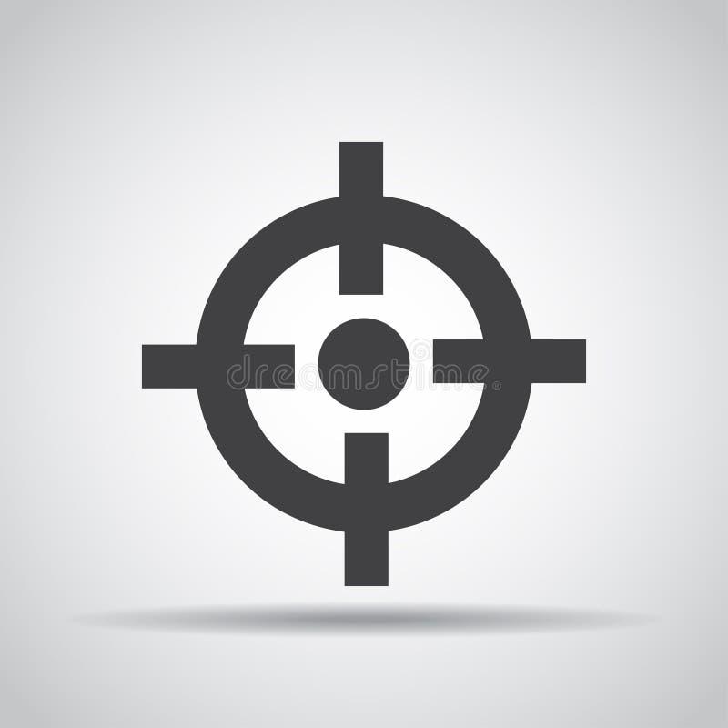 Observe o ícone com sombra em um fundo cinzento Ilustração do vetor ilustração royalty free