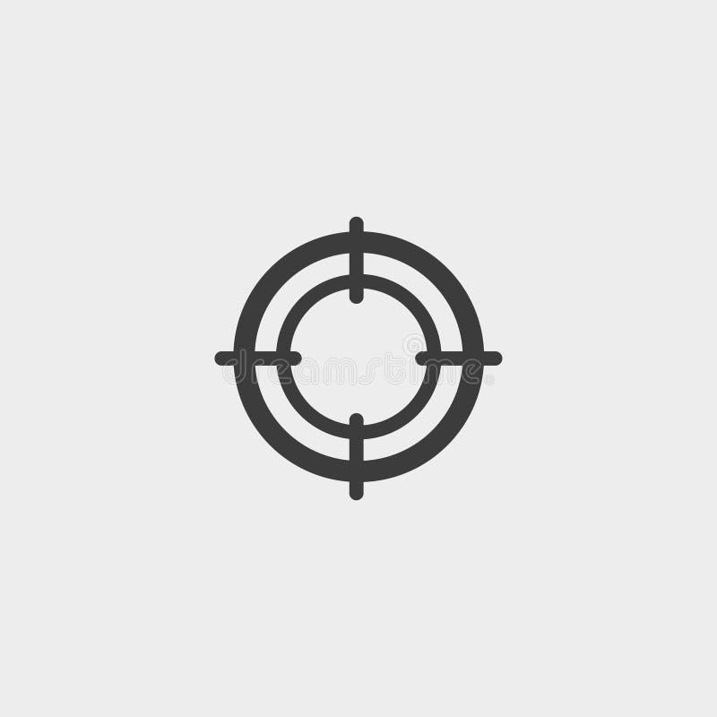 Observe o ícone em um projeto liso na cor preta Ilustração EPS10 do vetor ilustração royalty free