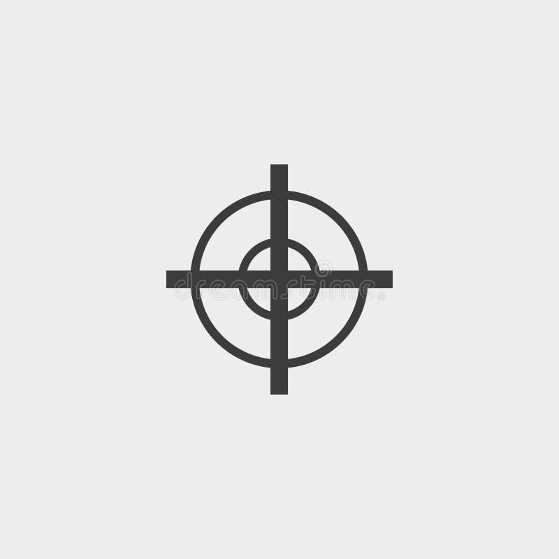 Observe o ícone em um projeto liso na cor preta Ilustração EPS10 do vetor ilustração do vetor