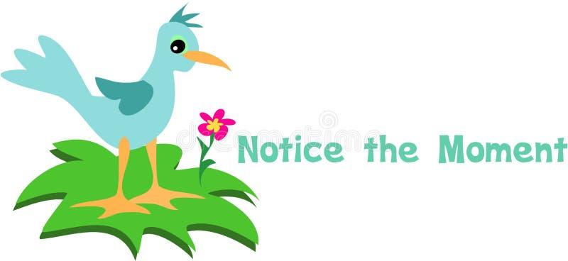 Observe o Bluebird do momento ilustração do vetor