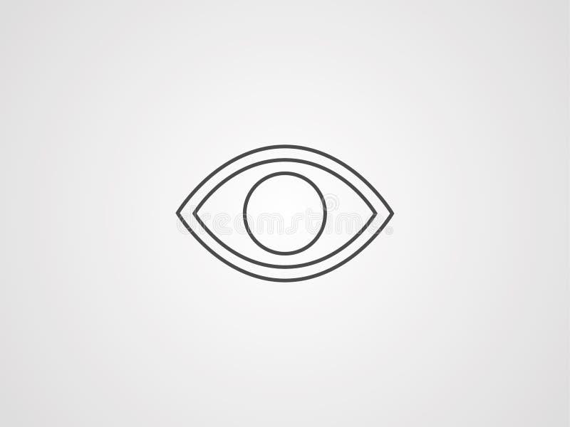 Observe o símbolo do sinal do ícone do vetor ilustração do vetor