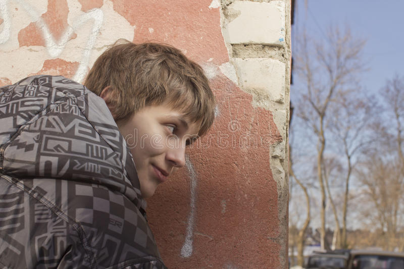 Download The observer stock image. Image of young, wall, look - 24139083