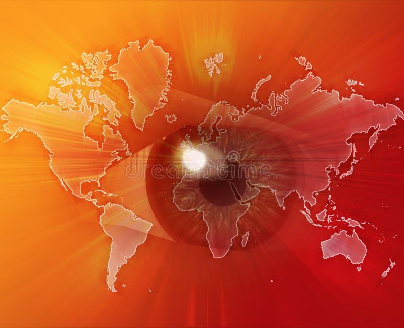 Observer le monde illustration libre de droits