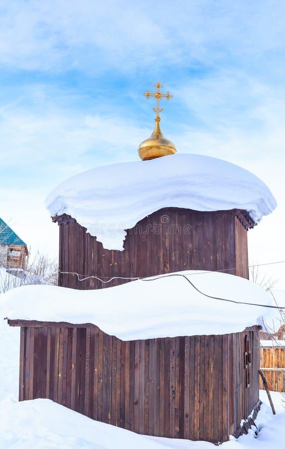 Observez la source à l'église de St Panteleimon images stock