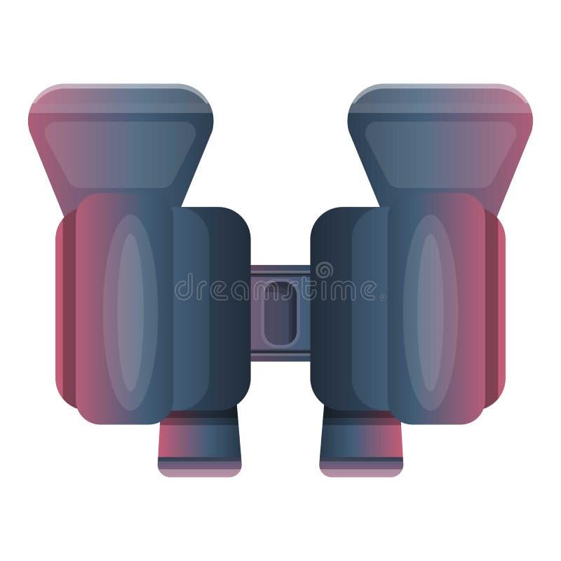 Observez les jumelles icône, style de bande dessinée illustration libre de droits