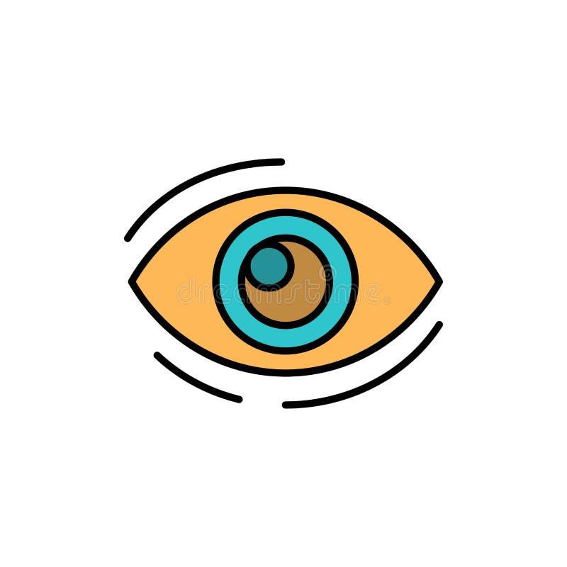 Observez, trouvez, regardez, en regardant, recherche, voyez, regarder l'icône plate de couleur Calibre de bannière d'icône de vec illustration de vecteur