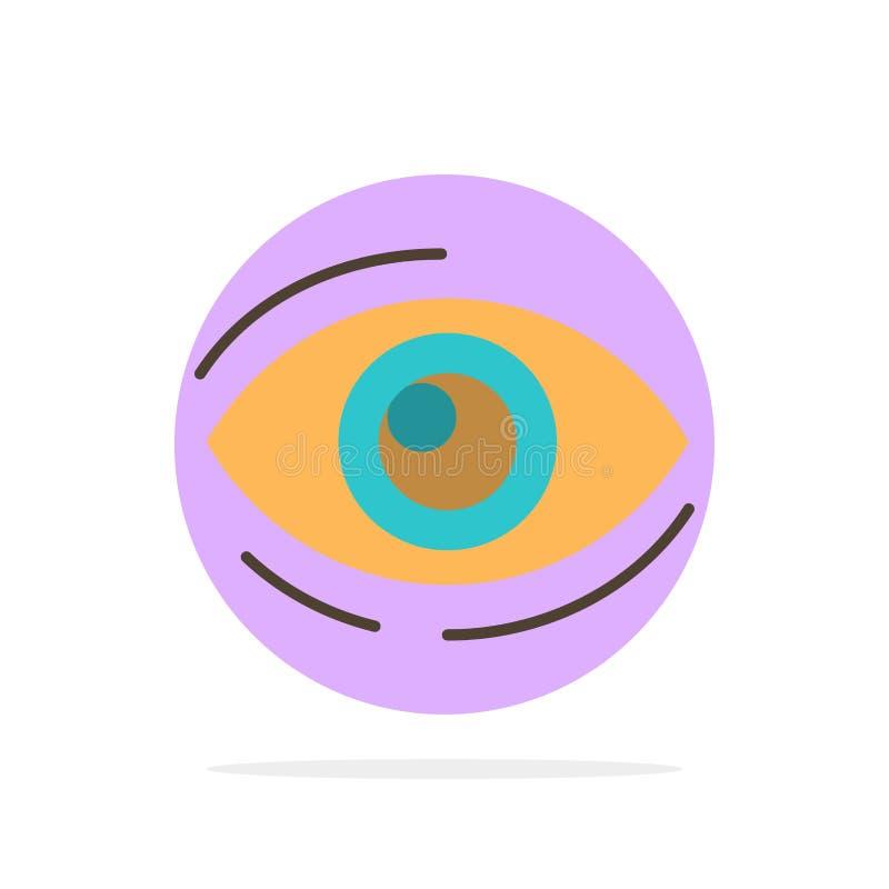 Observez, trouvez, regardez, en regardant, recherche, voyez, regarder l'icône plate de couleur de fond abstrait de cercle illustration libre de droits