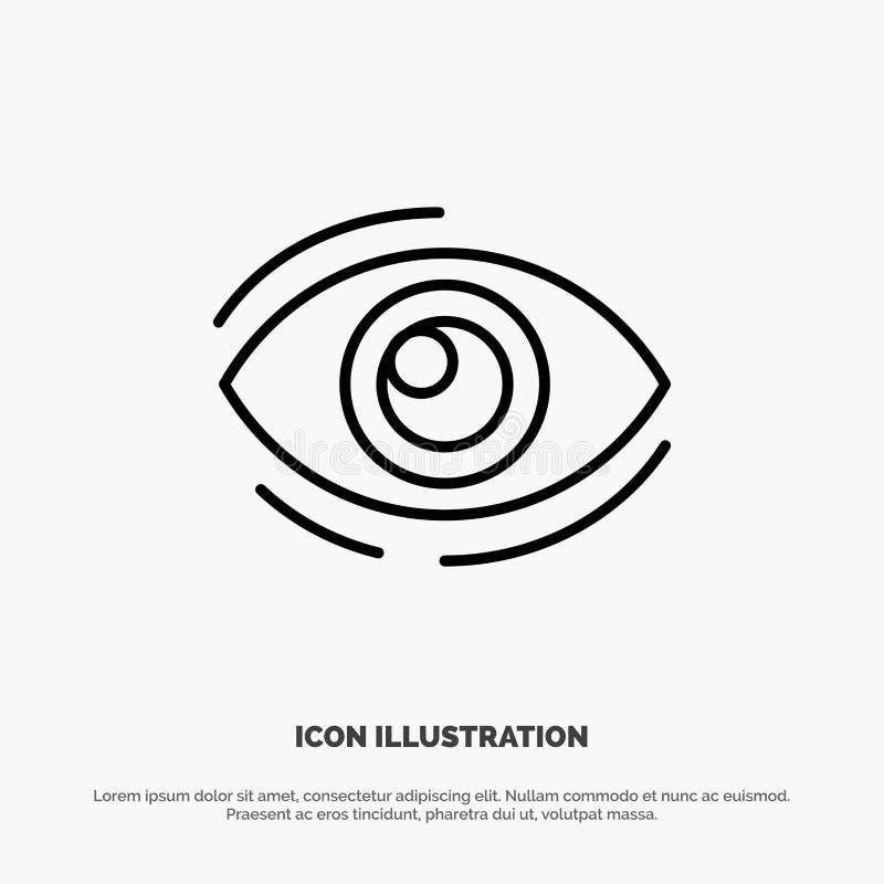 Observez, trouvez, regardez, en regardant, recherche, voyez, regarder la ligne vecteur d'icône illustration stock
