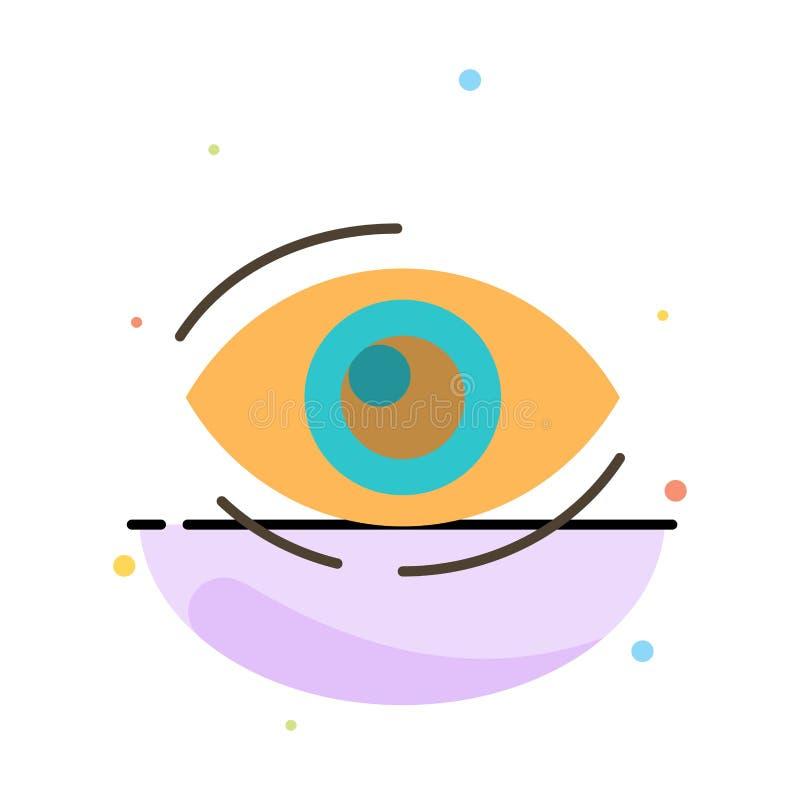 Observez, trouvez, regardez, en regardant, recherche, voyez, regarder le calibre plat abstrait d'icône de couleur illustration stock