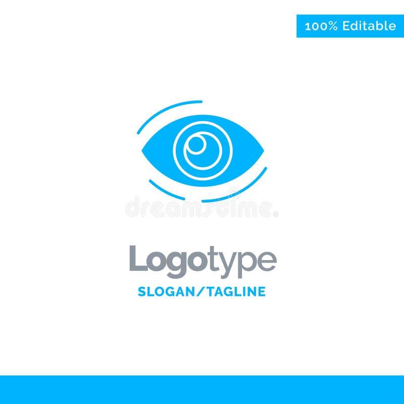 Observez, trouvez, regardez, en regardant, recherche, voyez, regarder le Logo Template solide bleu Endroit pour le Tagline illustration de vecteur