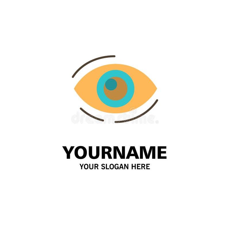 Observez, trouvez, regardez, en regardant, recherche, voyez, regarder les affaires Logo Template couleur plate illustration libre de droits