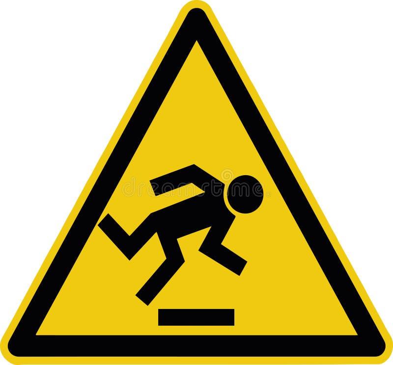 Observez votre étape - panneau d'avertissement, précaution de niveau d'obstacle de plancher sy illustration libre de droits
