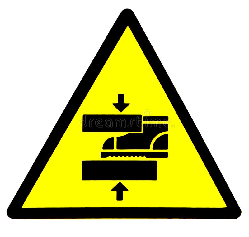 Observez votre op?ration Danger, signe de machines de d?placement illustration de vecteur