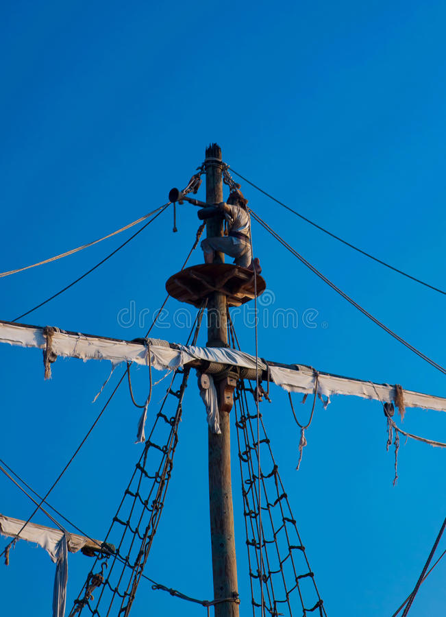 Download Observing Pirate Scout On The Lookout Stock Image - Image: 24079315