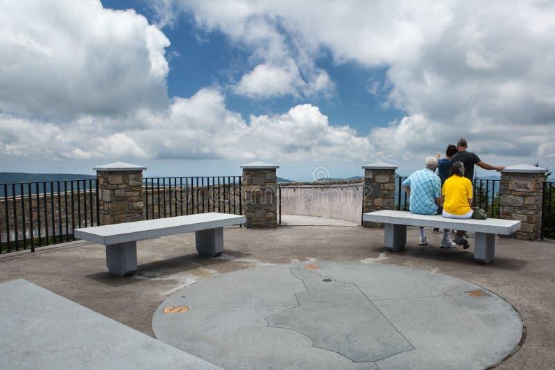 Obserwacja pokładu góra Mitchell Pólnocna Karolina obraz stock