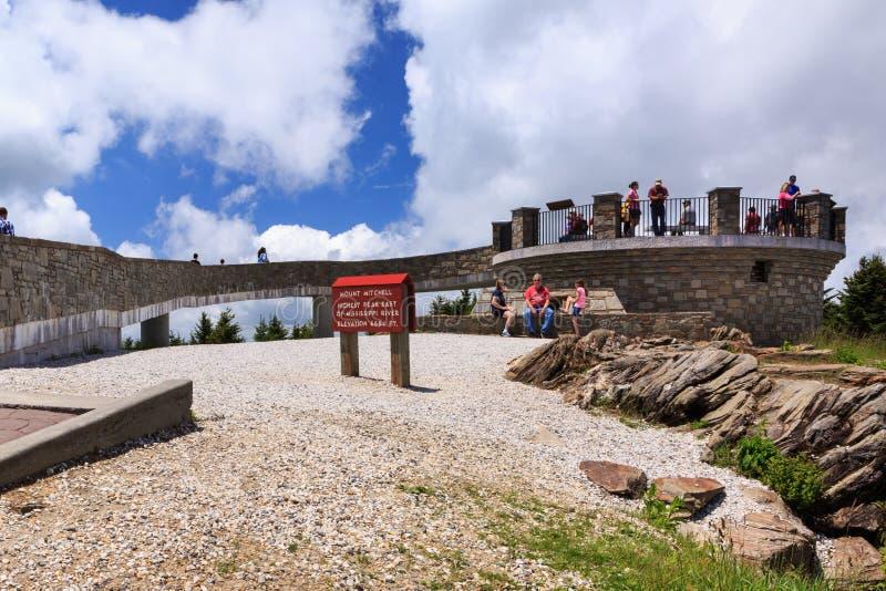 Obserwacja pokładu góra Mitchell Pólnocna Karolina zdjęcie royalty free