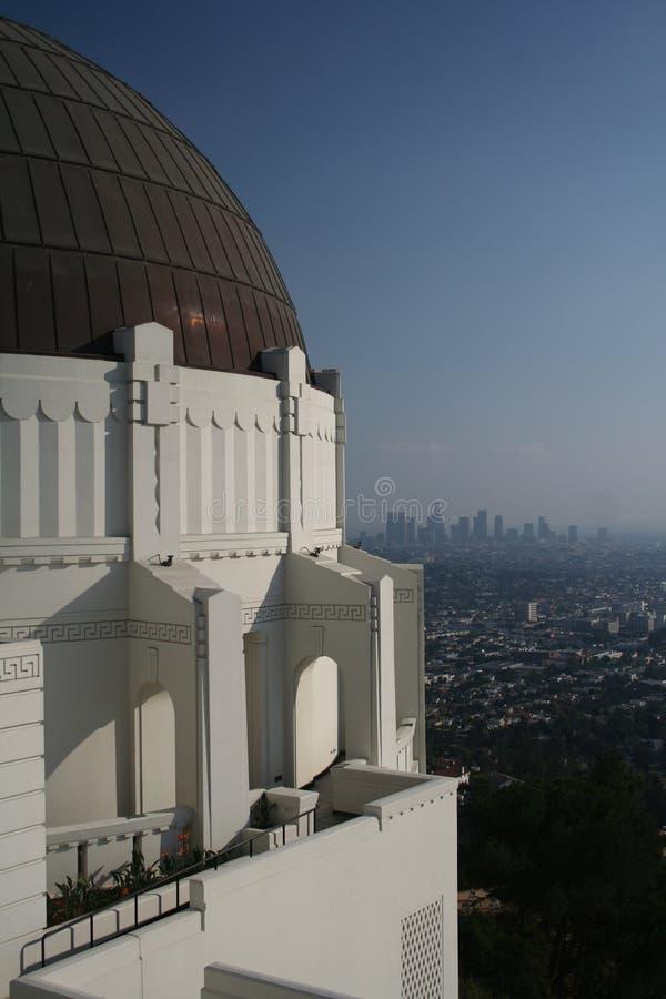 obserwatorium Griffith los angeles linii horyzontu obrazy royalty free